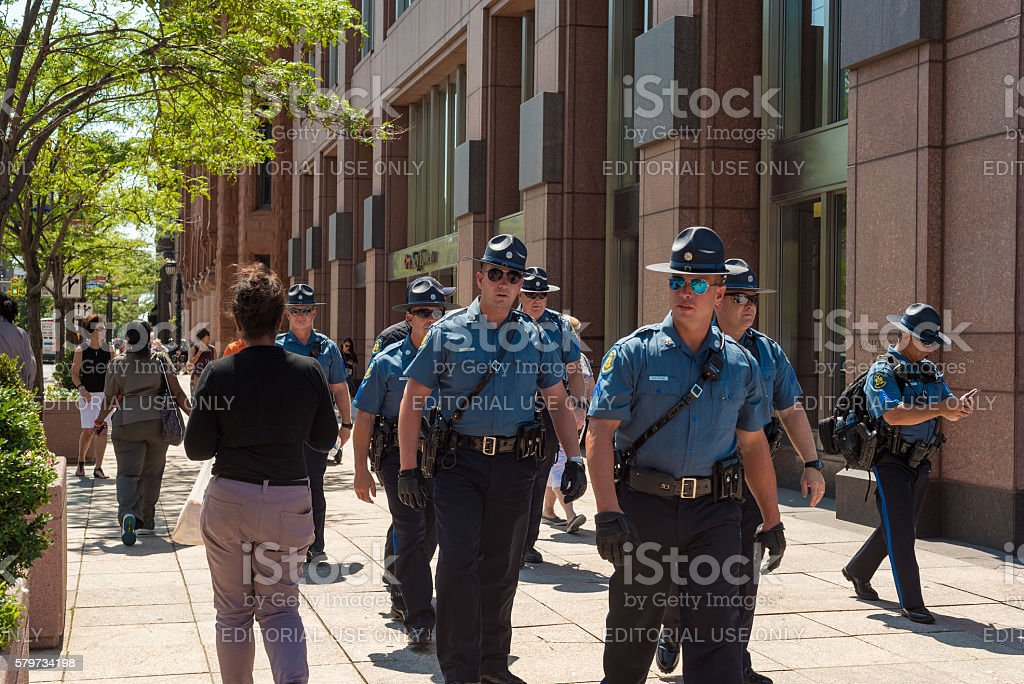 State troopers stock photo