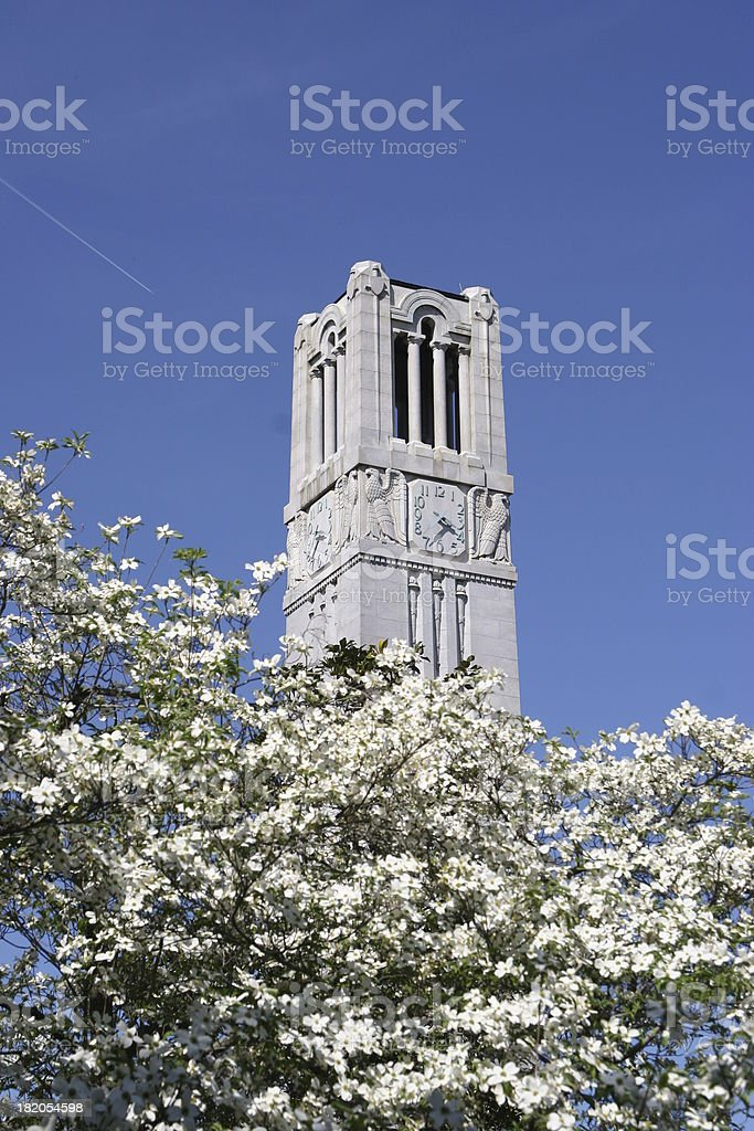 NC State University bell tower 03 stock photo
