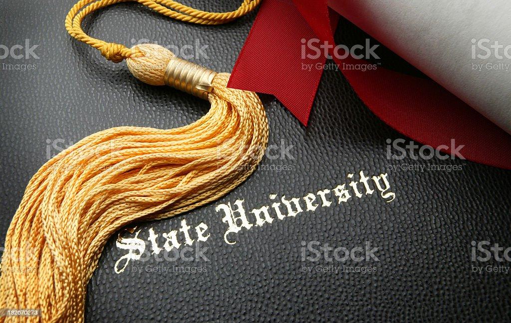 State University Graduation royalty-free stock photo