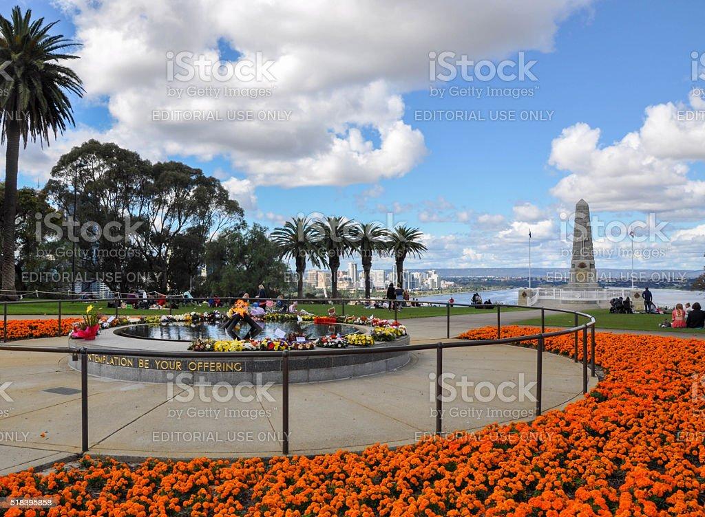 State War Memorial: King's Park Gardens stock photo