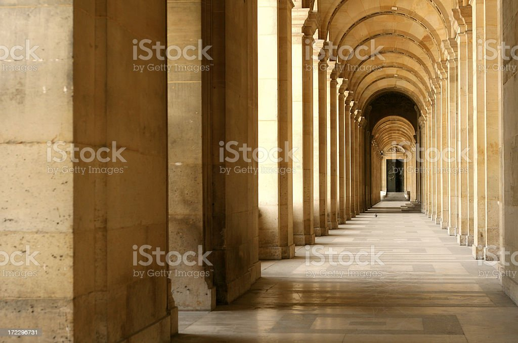 Stately Corridor stock photo