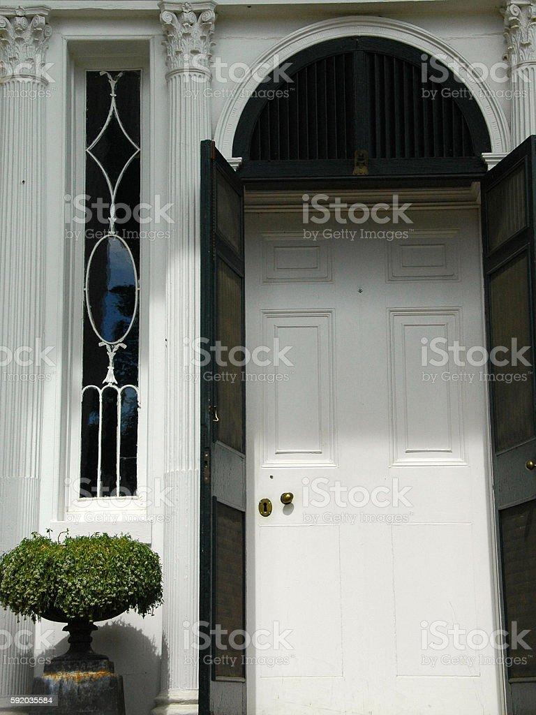 Stately Entrance stock photo