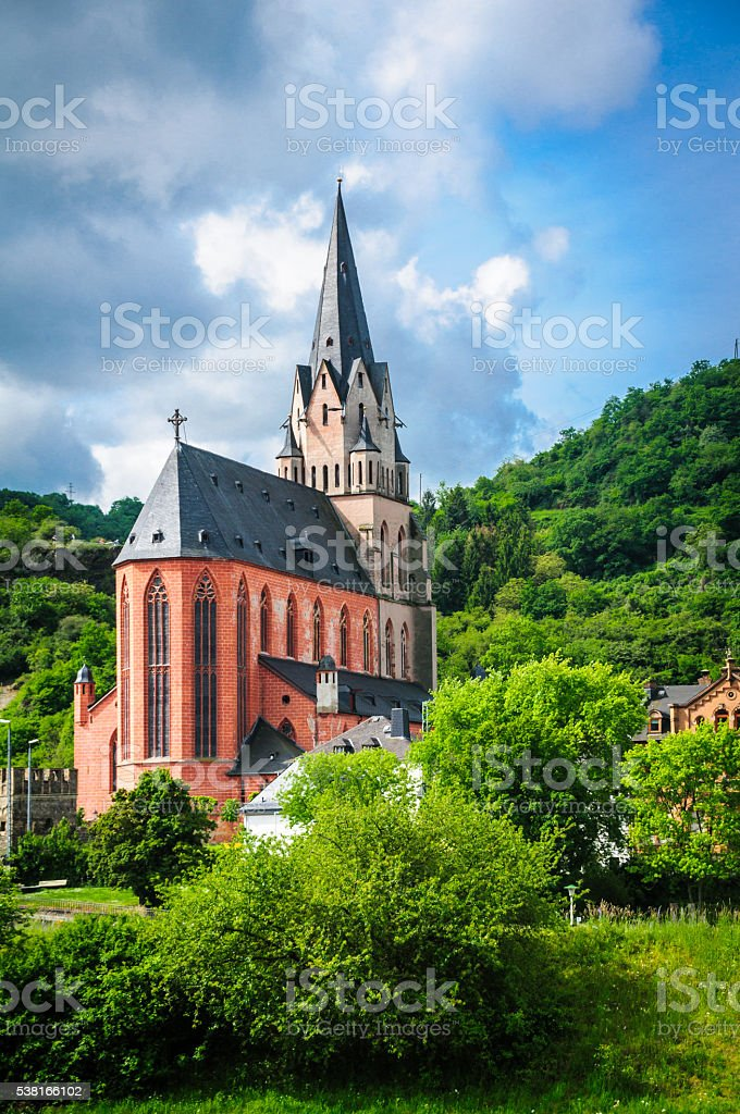 Stately German Church stock photo