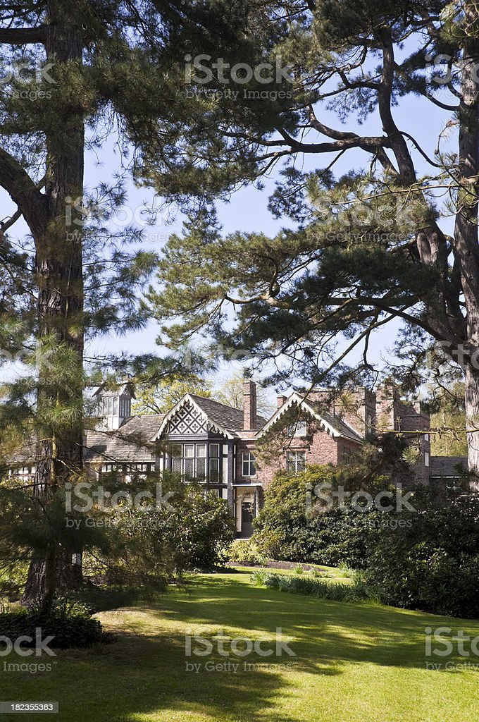Stately Home and Garden stock photo