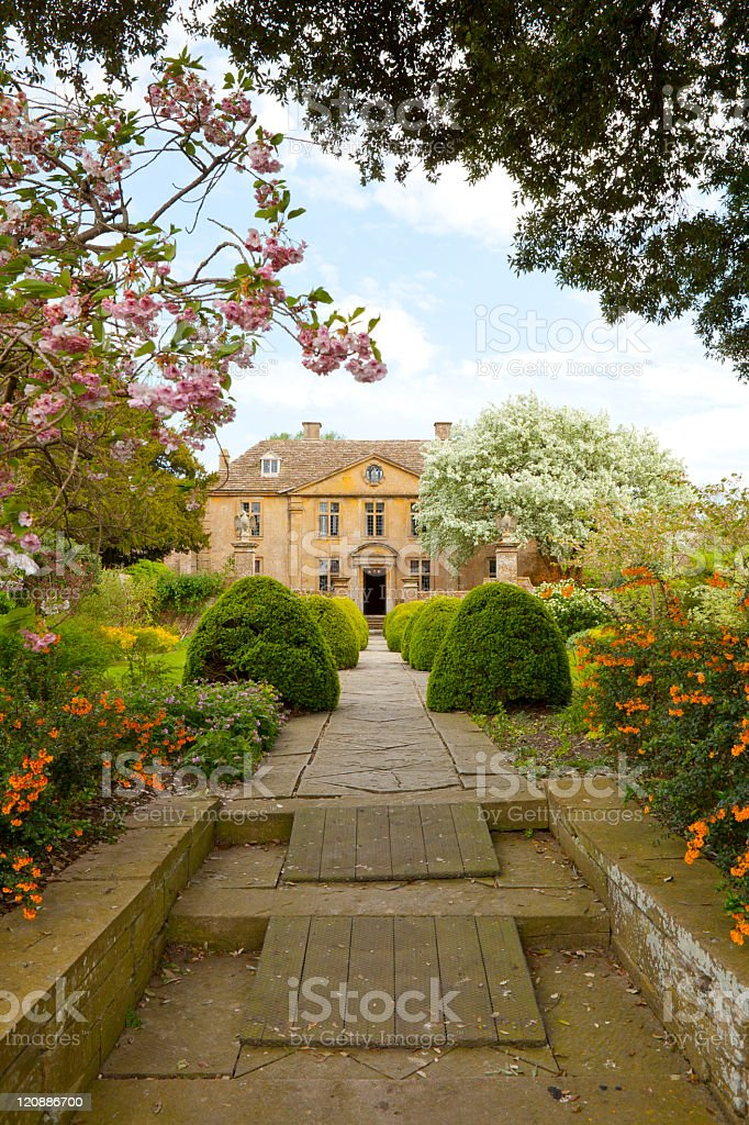 Stately Home and Garden with Wheelchair Ramp stock photo