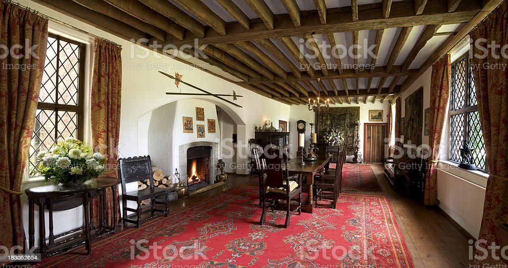 stately home dining room stock photo