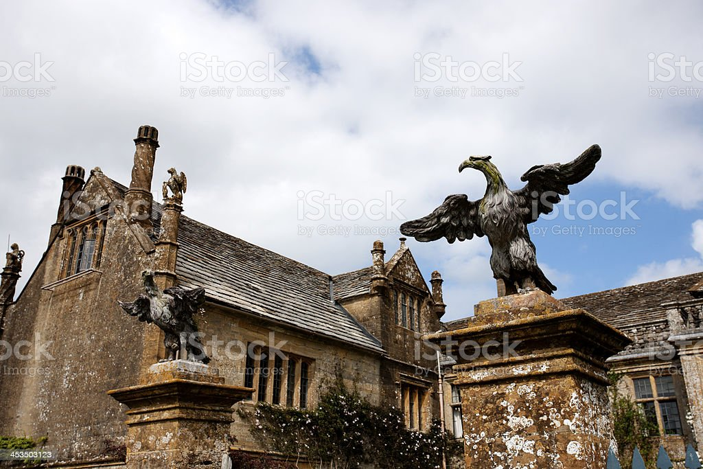Stately home finials royalty-free stock photo