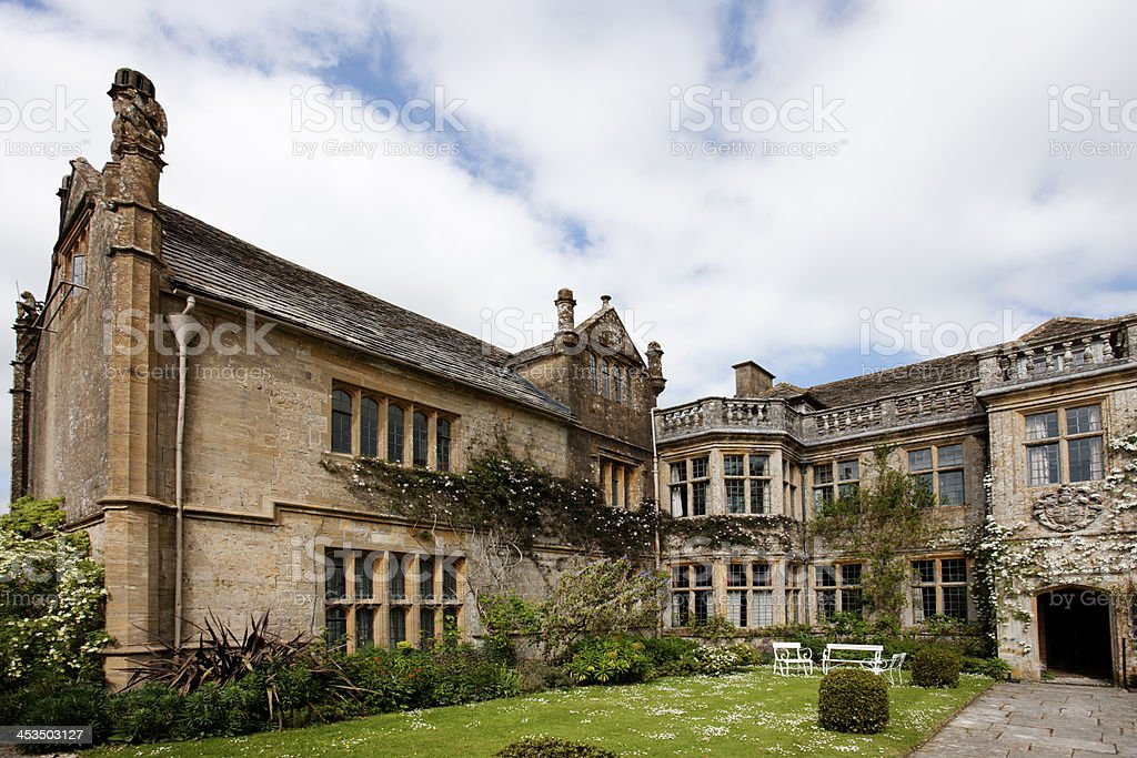 Stately home frontage stock photo