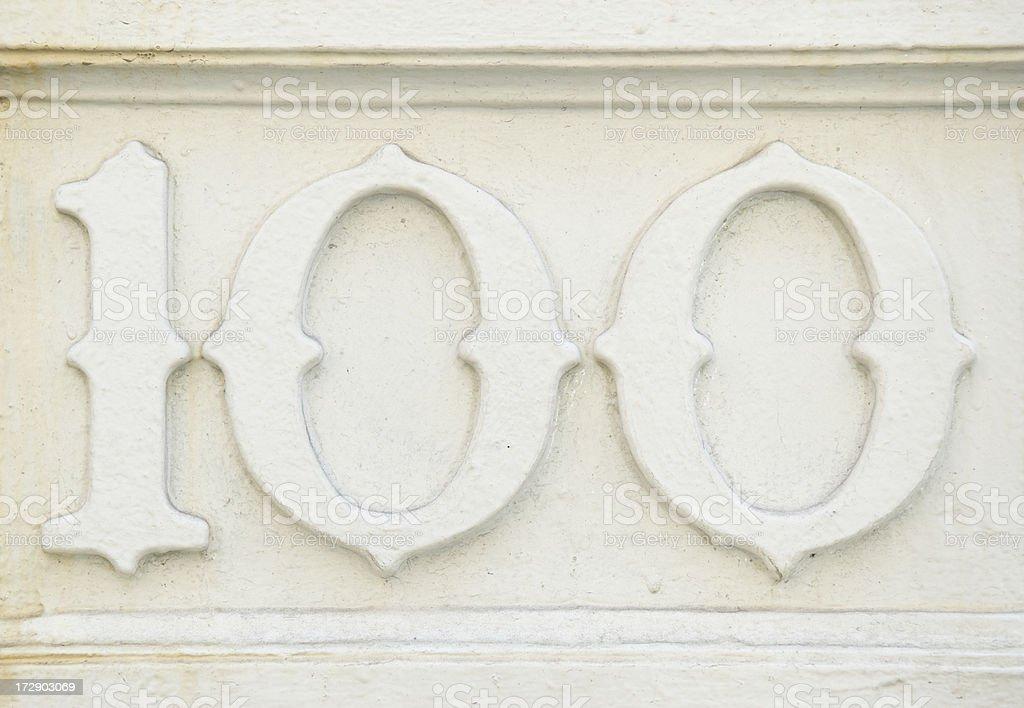 Stately Old One Hundred on White royalty-free stock photo