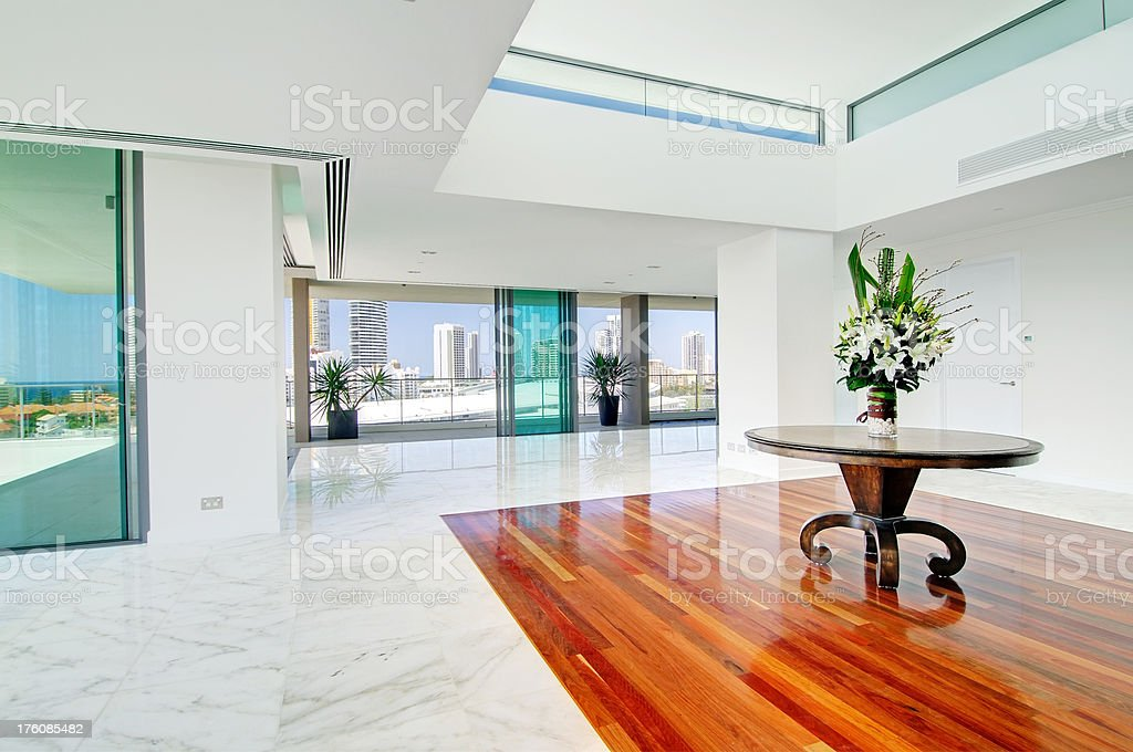 Stately penthouse living room royalty-free stock photo