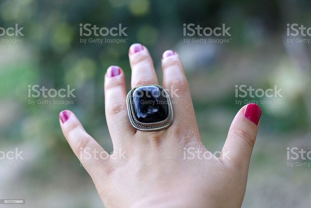 Statement Ring stock photo