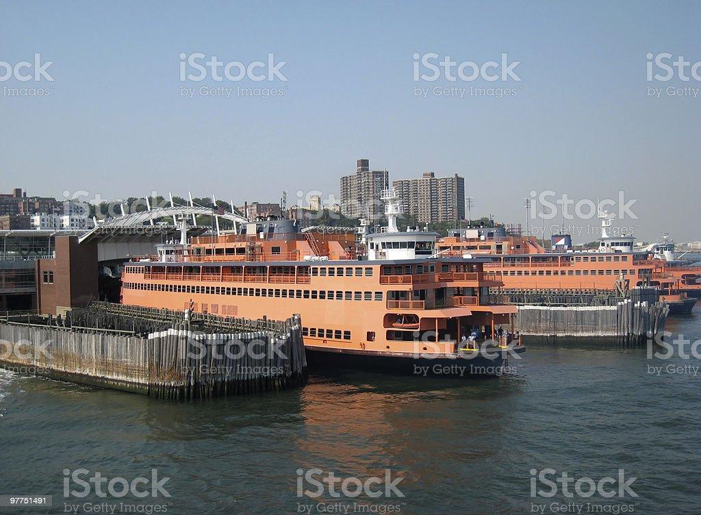 Staten Island ferries stock photo
