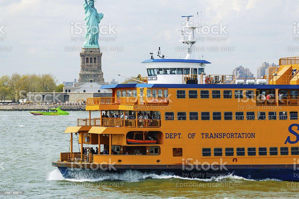 Staten Island Ferry, New York City, USA royalty-free stock photo