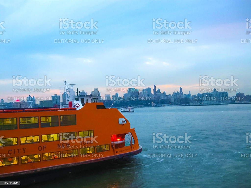 New York, USA - February 13, 2013: Staten Island Ferry, New York city, USA stock photo