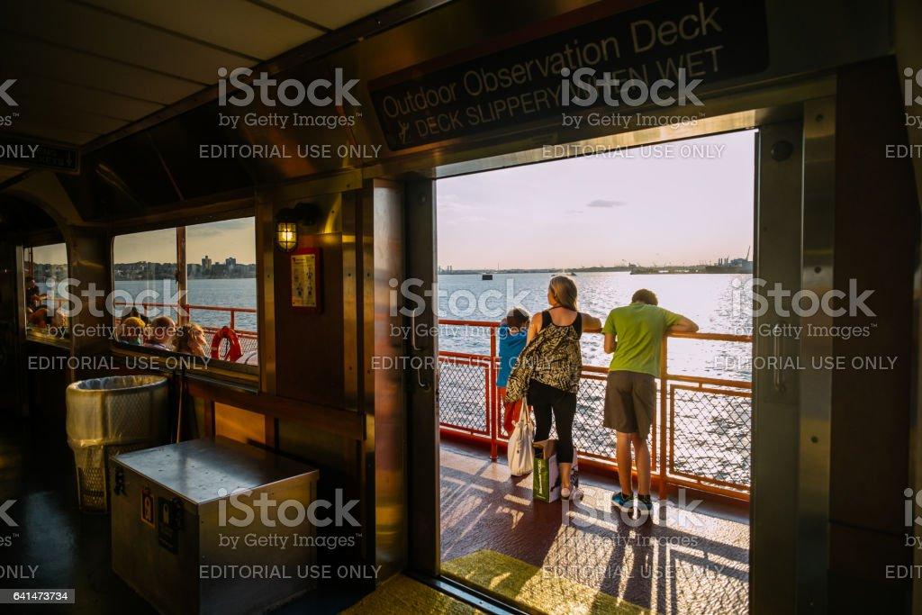 Staten Island Ferry ride stock photo