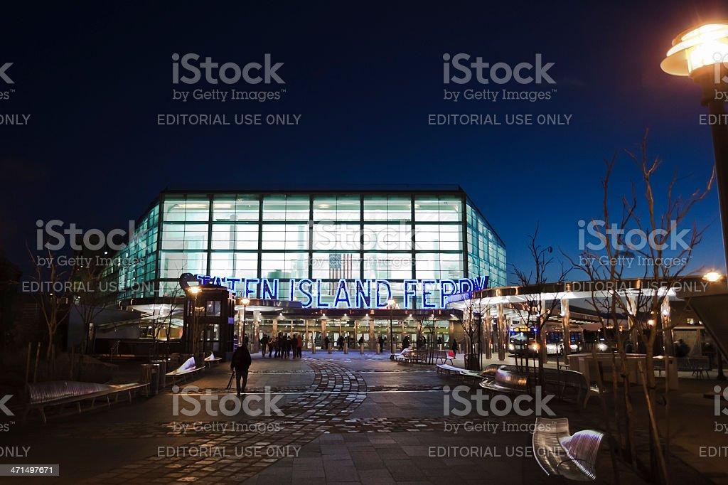 Staten Island Ferry Terminal, Manhattan, New York royalty-free stock photo
