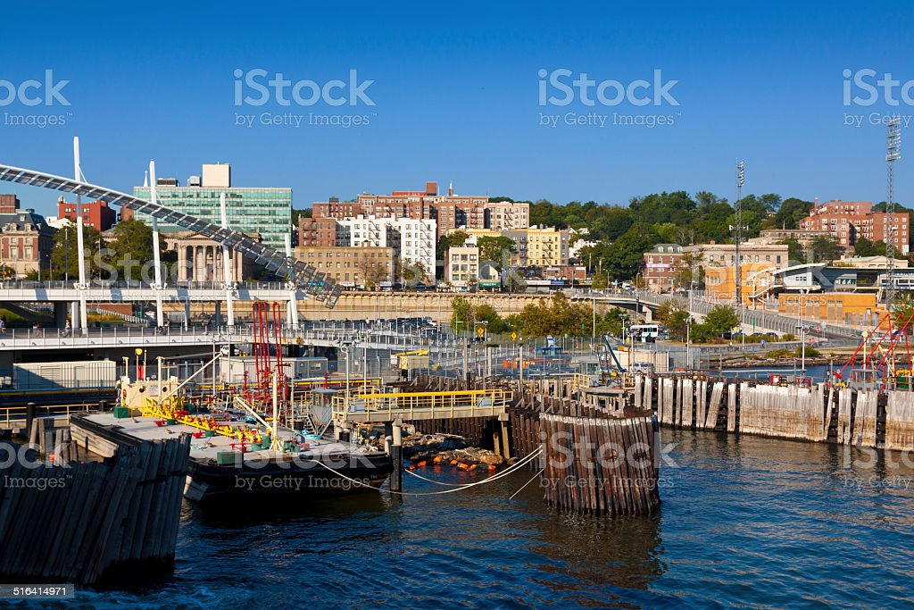 Staten Island Ferry Terminal, New York. stock photo