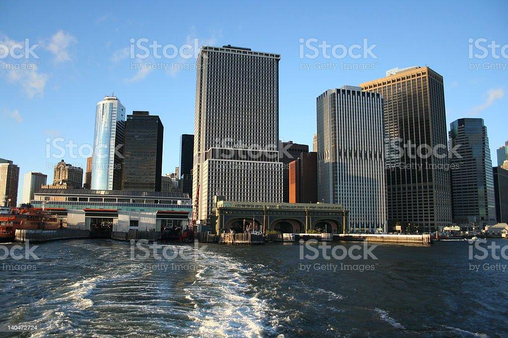 Staten Island ferry terminal stock photo