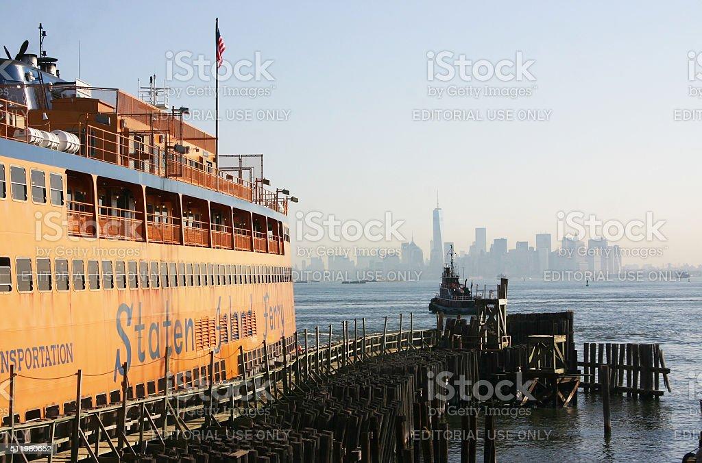 Staten Island Ferry with Manhattan View stock photo