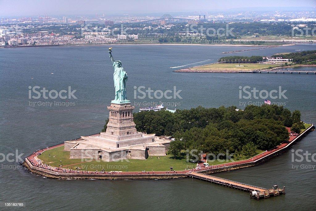 Staten Island - Statue of Liberty stock photo