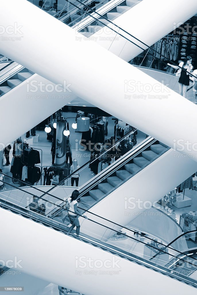 State-of-the-Art Shopping Mall royalty-free stock photo
