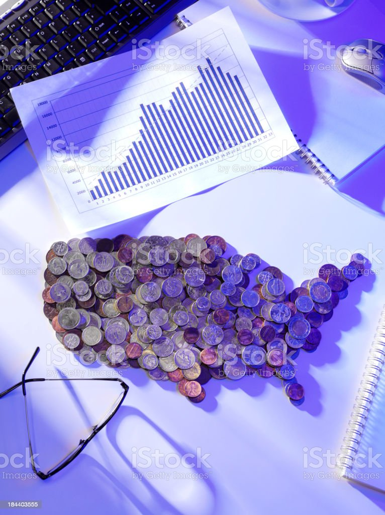 States of America in Currency royalty-free stock photo