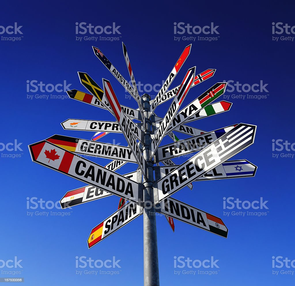 States of the World and Their Flags royalty-free stock photo