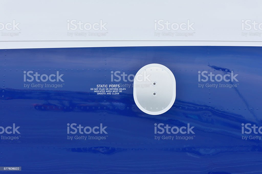 Static Ports on the Airplane stock photo
