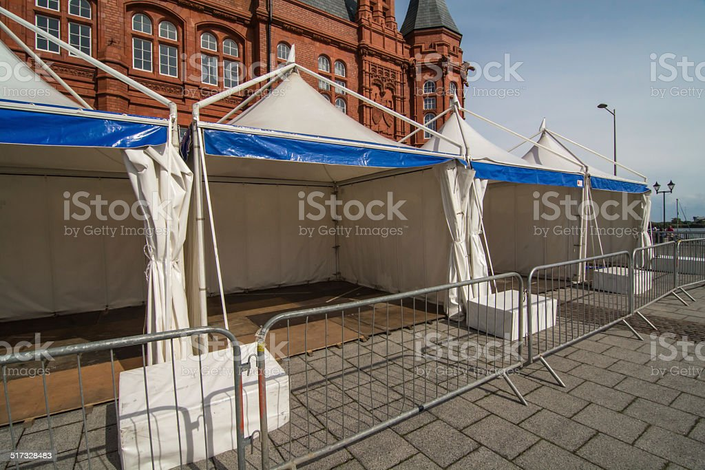 Static tents, ready for an Event stock photo