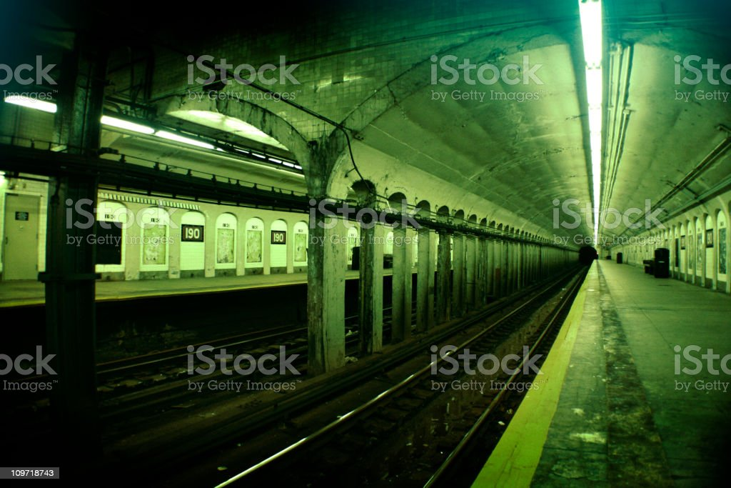 Station at 190th St. royalty-free stock photo