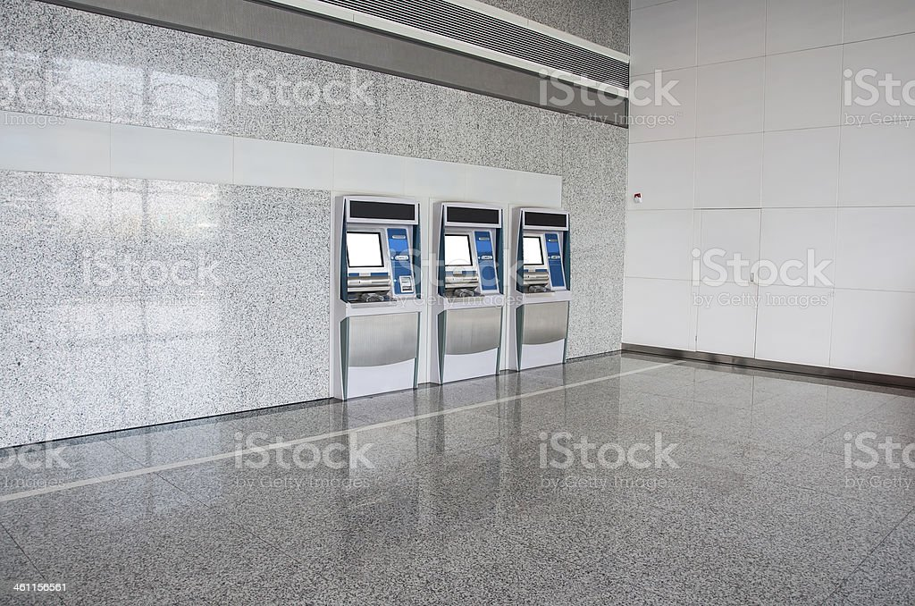 station automatic machines, ATM machine stock photo