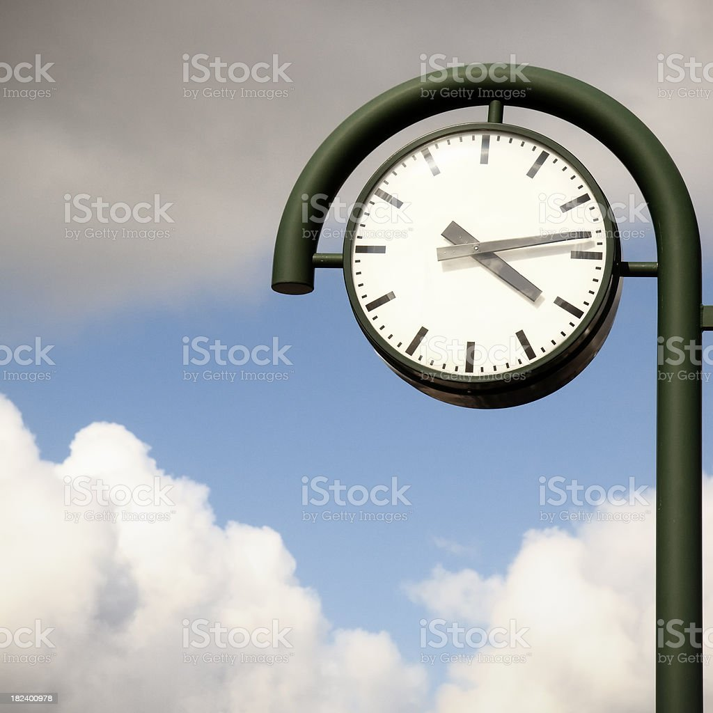 Station clock royalty-free stock photo