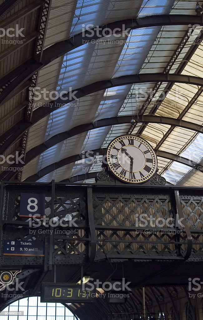 Station clocks, conventional and numerical royalty-free stock photo