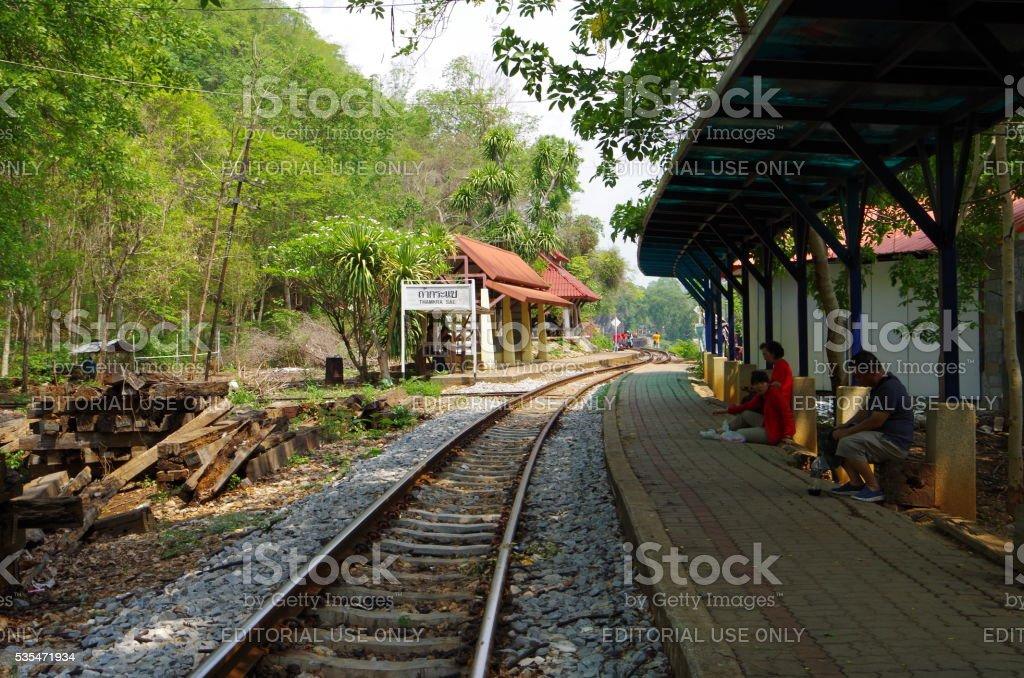 Estación en el norte de Tailandia foto de stock libre de derechos