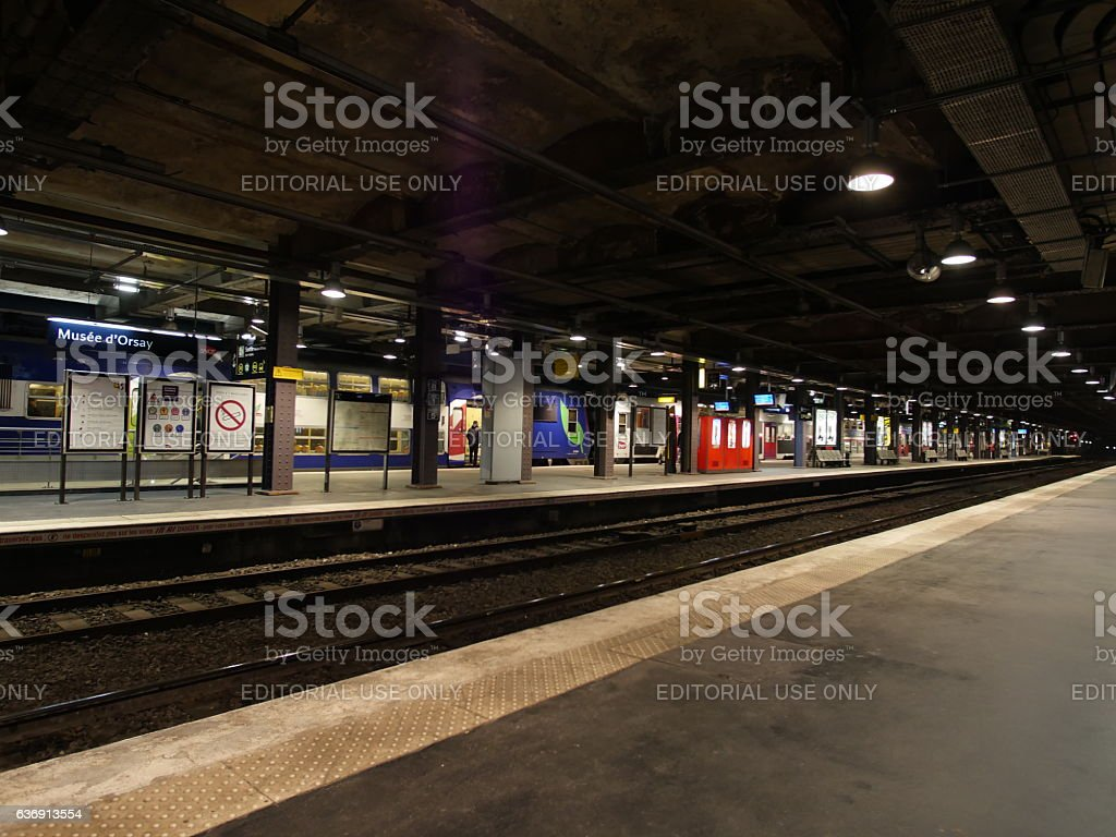 SNCF station in Paris stock photo