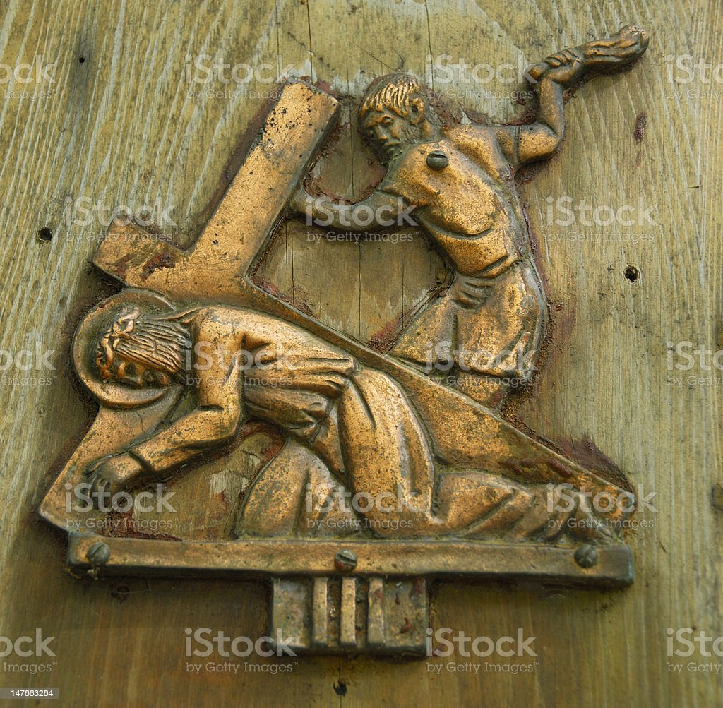 Station of the Cross royalty-free stock photo