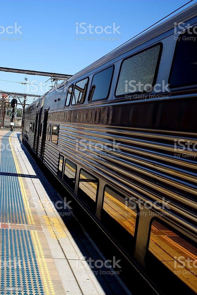 Station platform stock photo