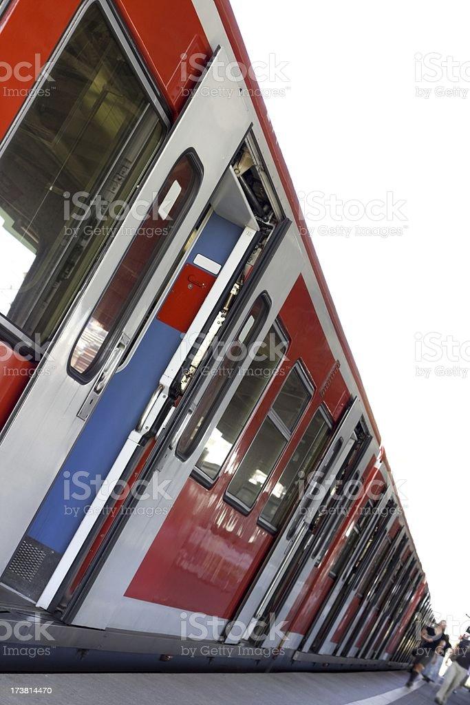 Station platform royalty-free stock photo
