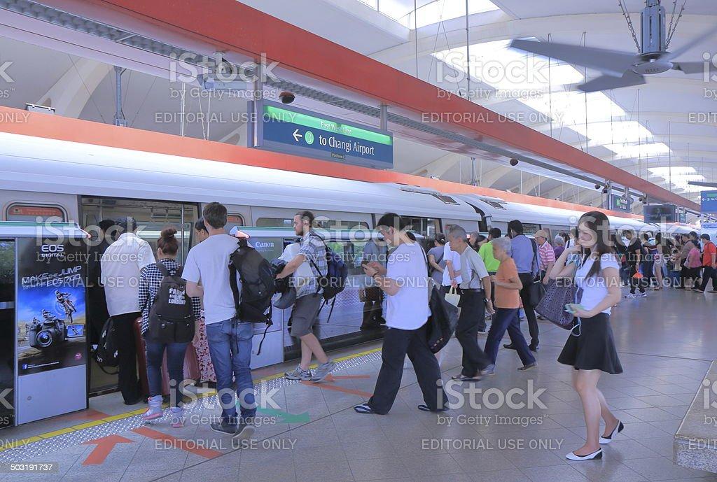 MRT Station Singapore stock photo