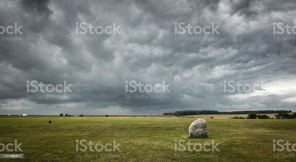 Station Stone at Stonehenge stock photo