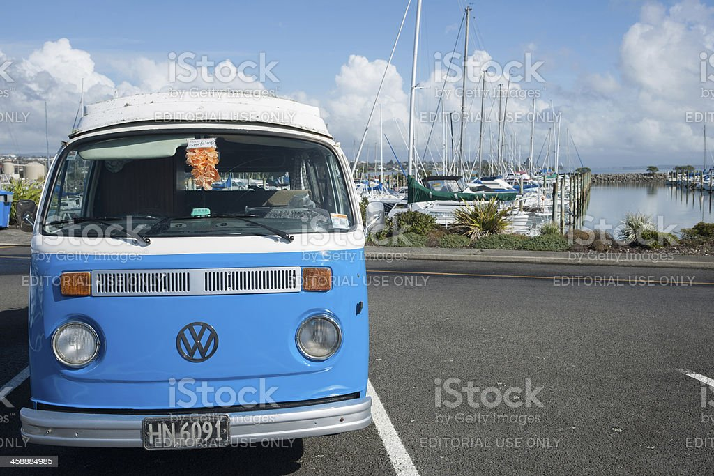VW kombi, retro vehicle. stock photo