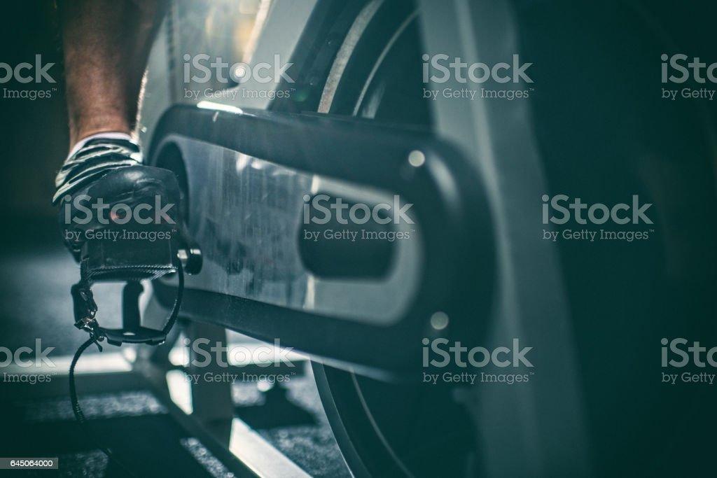 Stationary bicycle stock photo