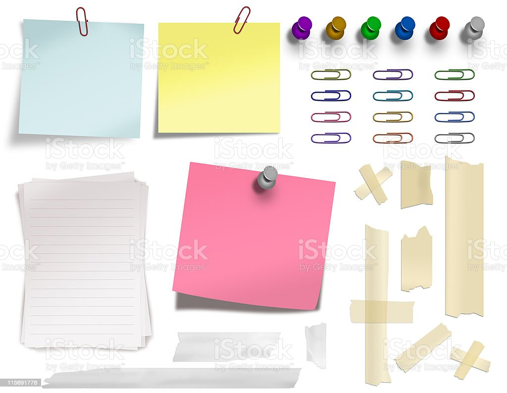 stationary collection royalty-free stock vector art