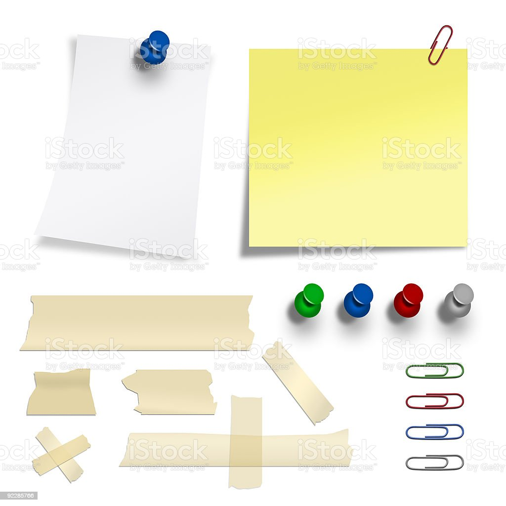 stationary collection royalty-free stock photo