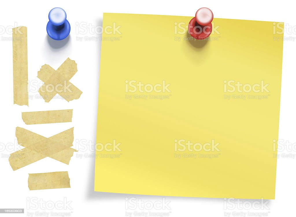stationary collection with clipping path stock photo