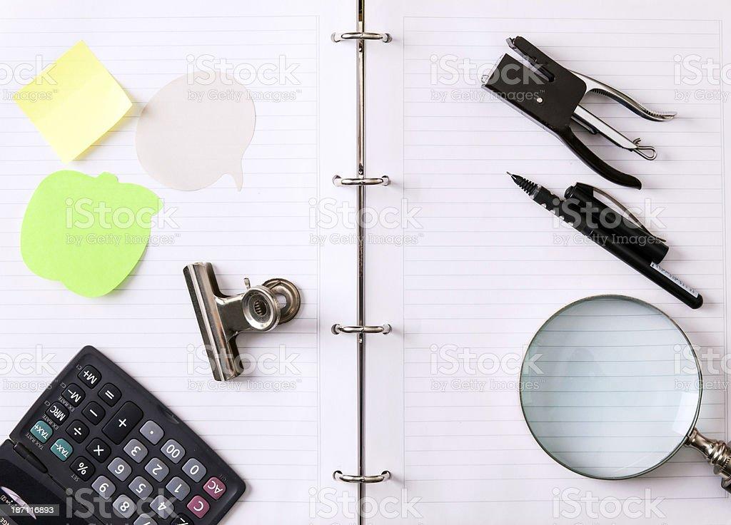 stationary - office stuffs stock photo