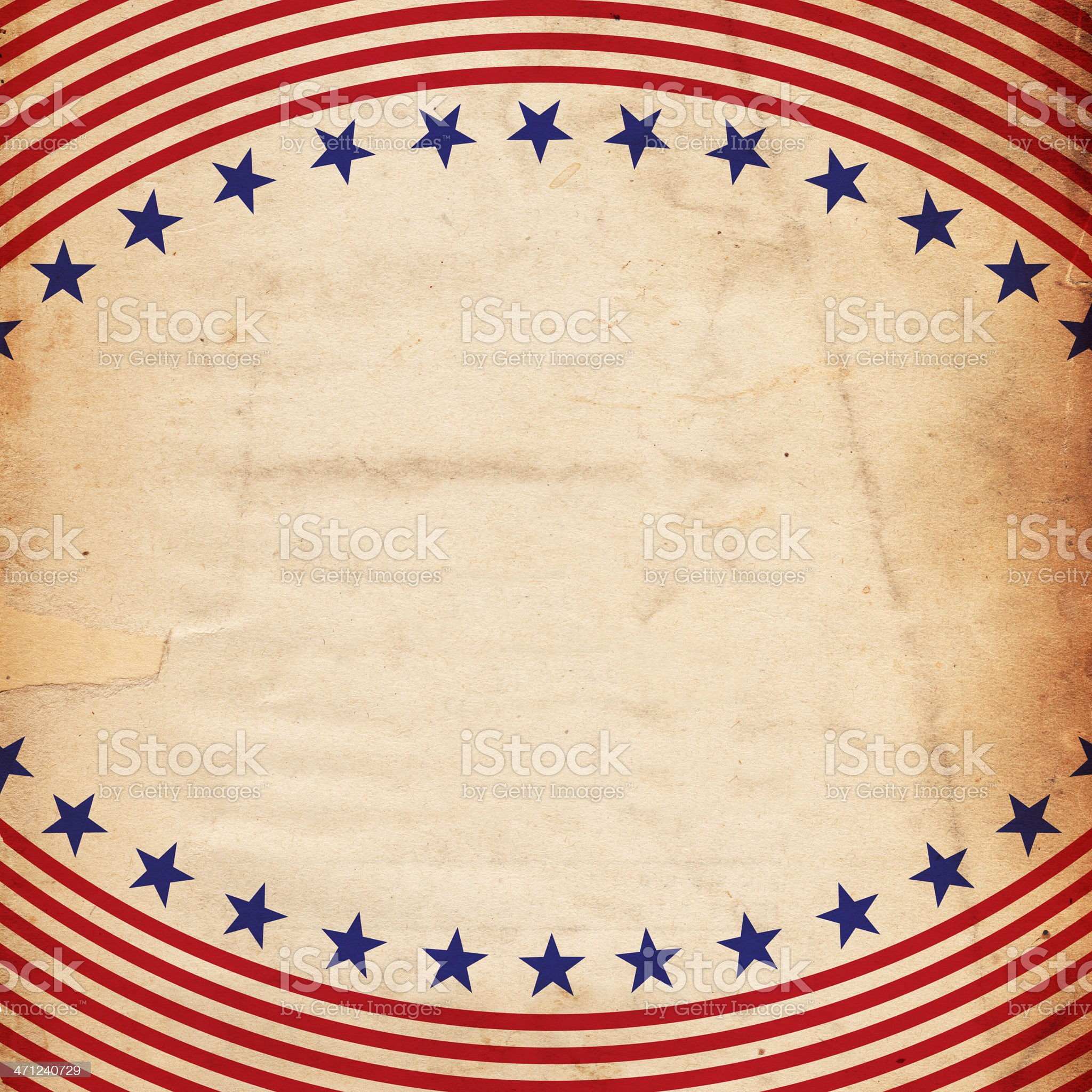 Stationary with patriotic Stars and Stripes print royalty-free stock photo