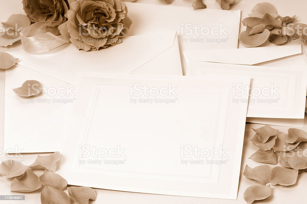 Stationary with roses royalty-free stock photo