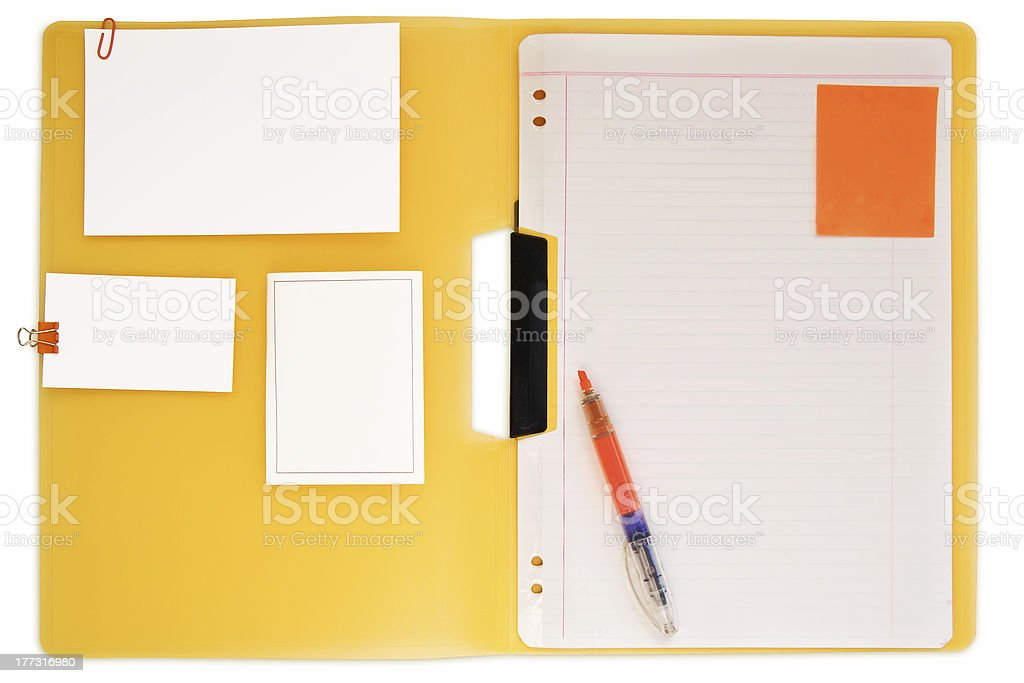 Stationery - add your own content. royalty-free stock photo