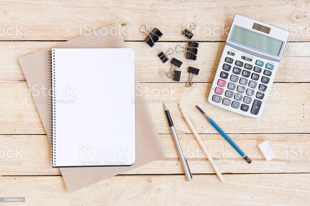 Stationery and Drawing equipment. stock photo
